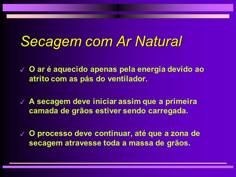 Secagem com Ar Natural O ar é aquecido apenas pela energia devido ao atrito com as pás do ventilador.