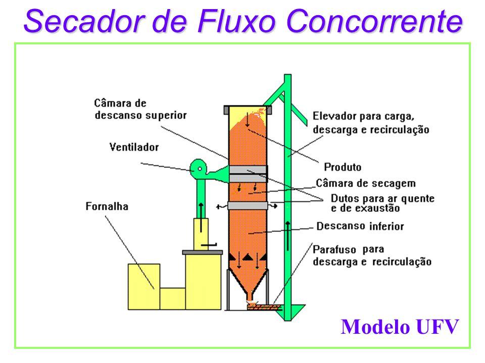 Secador de Fluxo Concorrente