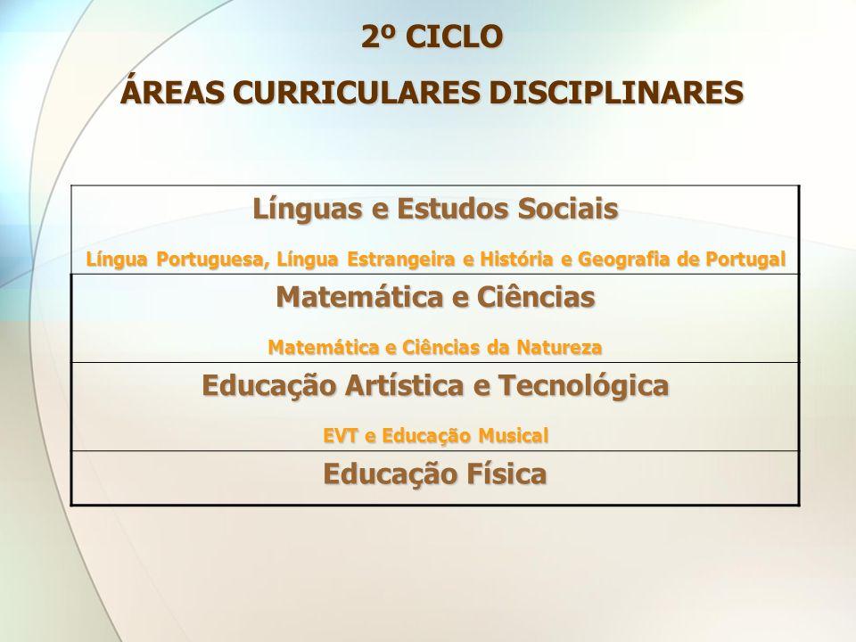 2º CICLO ÁREAS CURRICULARES DISCIPLINARES
