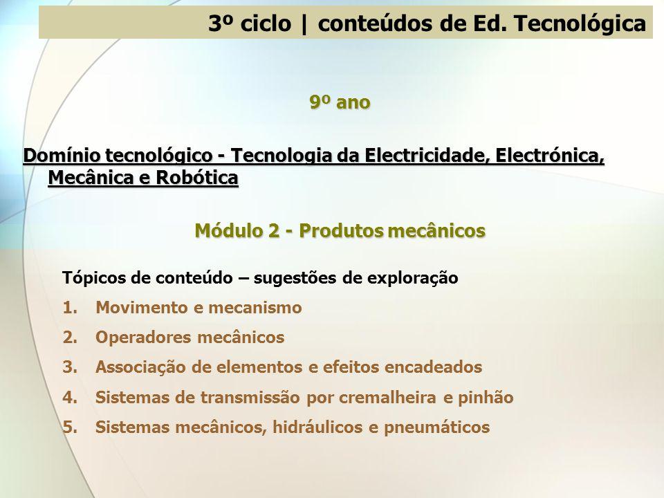 3º ciclo | conteúdos de Ed. Tecnológica