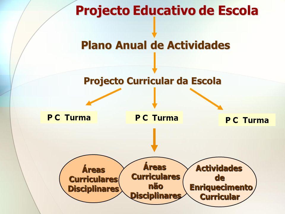 Projecto Educativo de Escola Plano Anual de Actividades