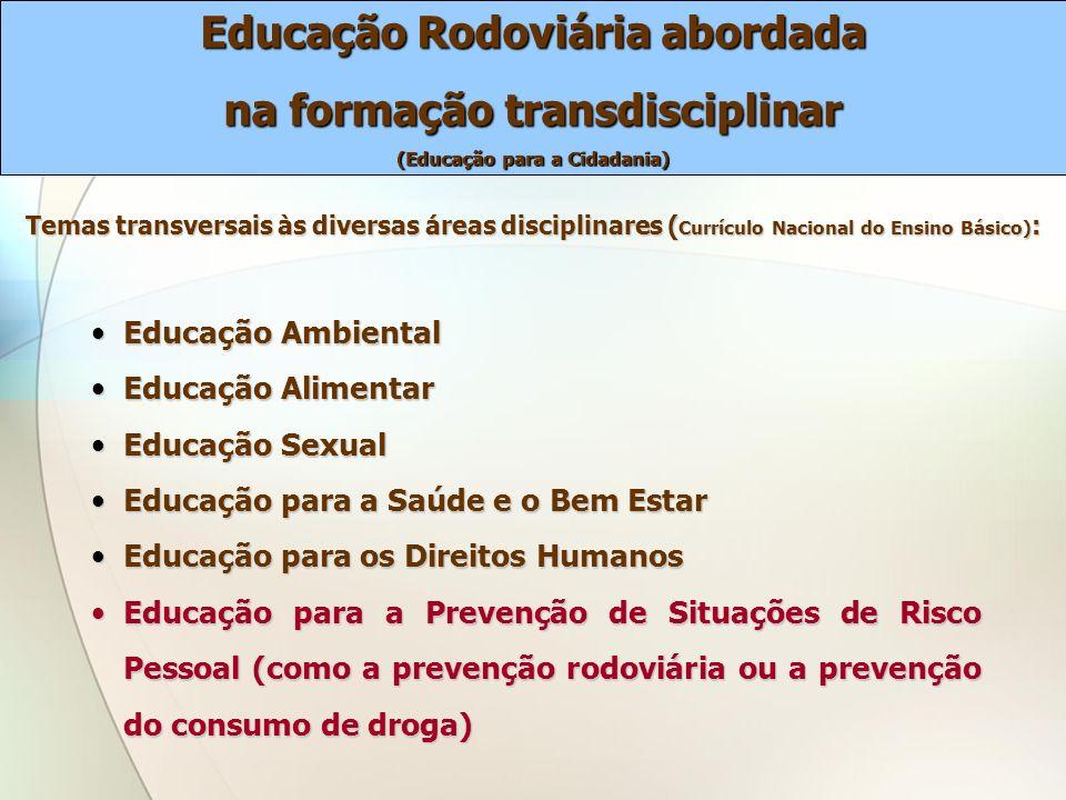 Educação Rodoviária abordada na formação transdisciplinar