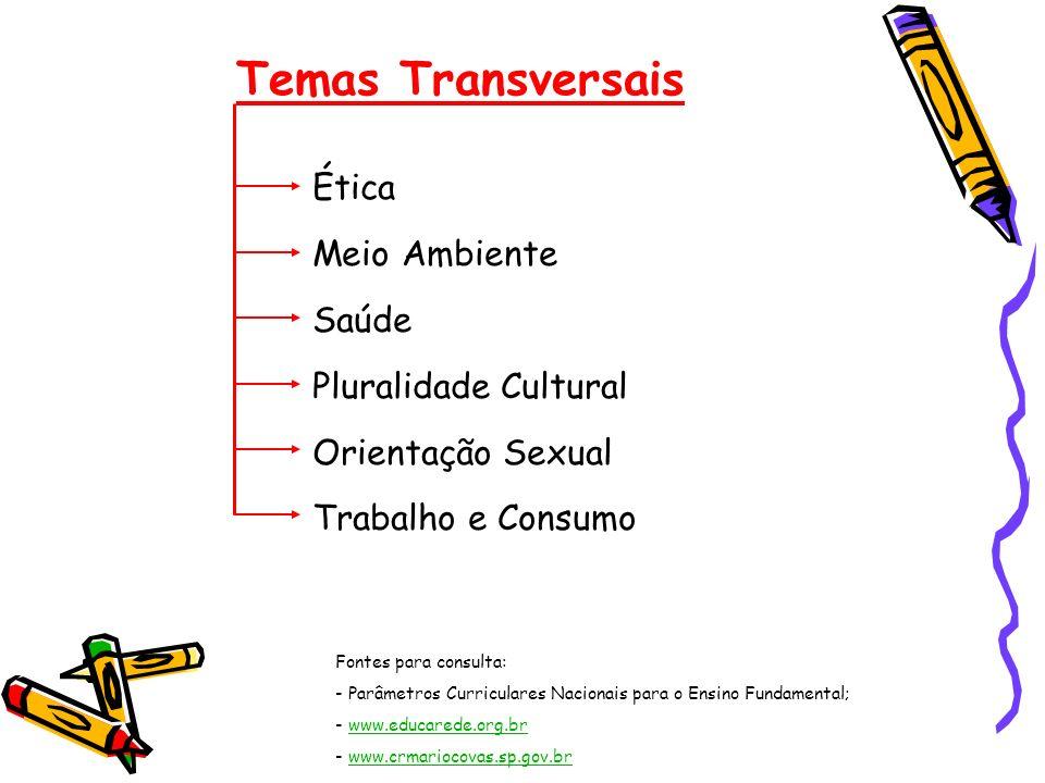 Temas Transversais Ética Meio Ambiente Saúde Pluralidade Cultural
