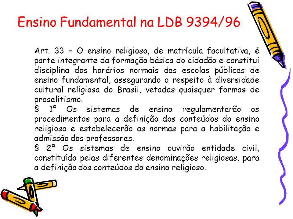 Ensino Fundamental na LDB 9394/96
