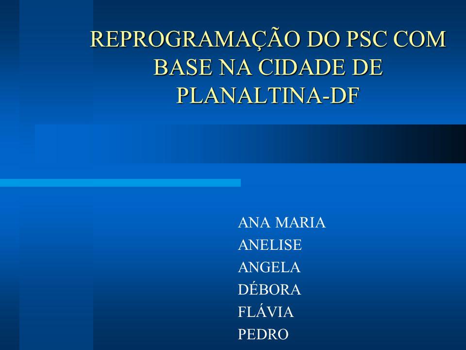 REPROGRAMAÇÃO DO PSC COM BASE NA CIDADE DE PLANALTINA-DF