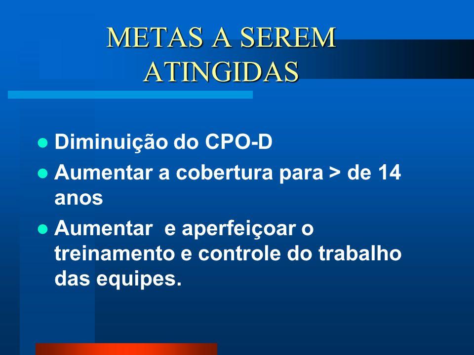 METAS A SEREM ATINGIDAS