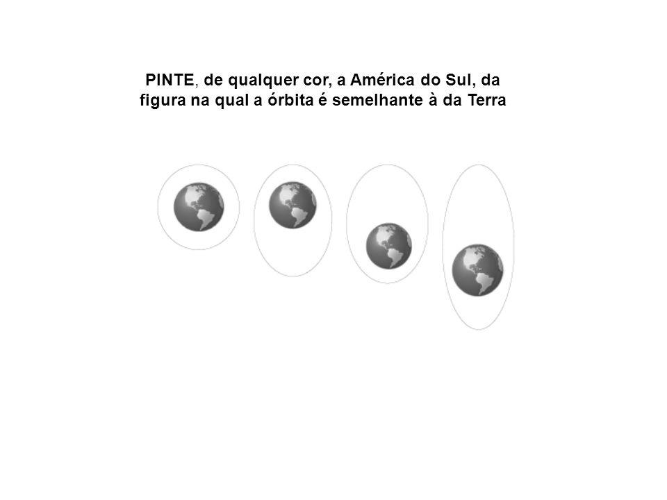 PINTE, de qualquer cor, a América do Sul, da figura na qual a órbita é semelhante à da Terra