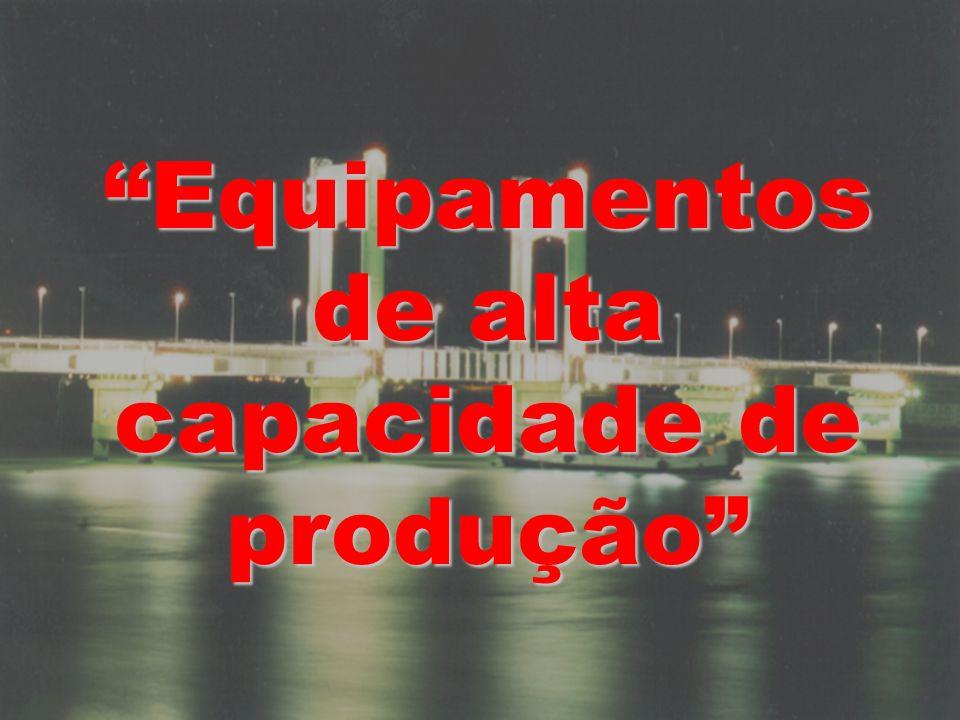 Equipamentos de alta capacidade de produção