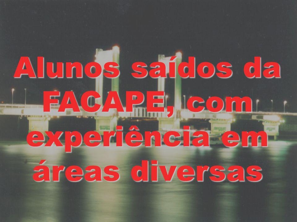 Alunos saídos da FACAPE, com experiência em áreas diversas