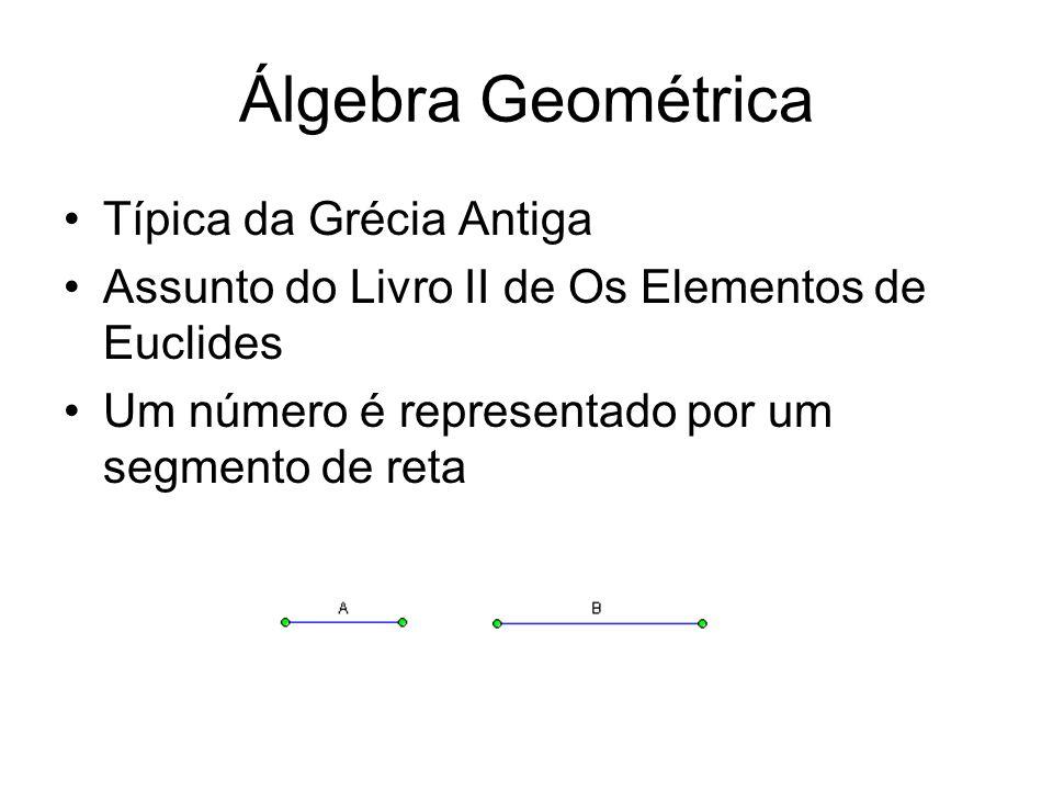 Álgebra Geométrica Típica da Grécia Antiga