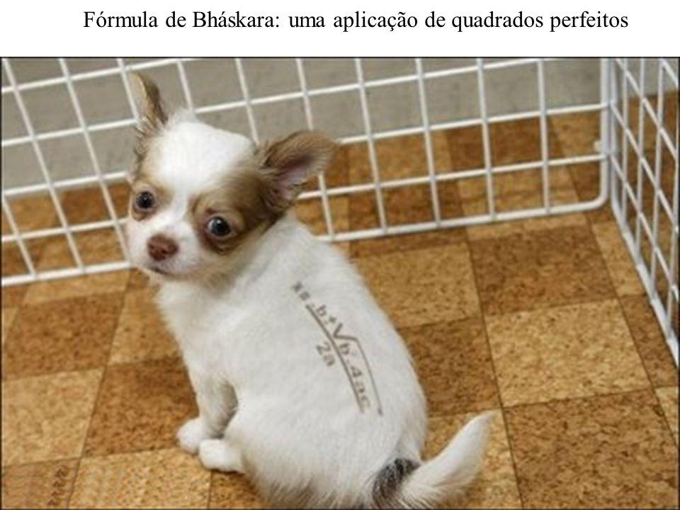 Fórmula de Bháskara: uma aplicação de quadrados perfeitos