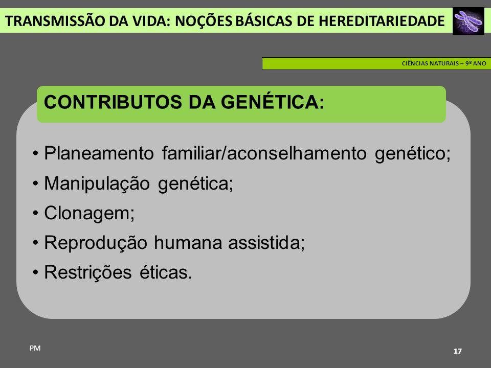CONTRIBUTOS DA GENÉTICA: