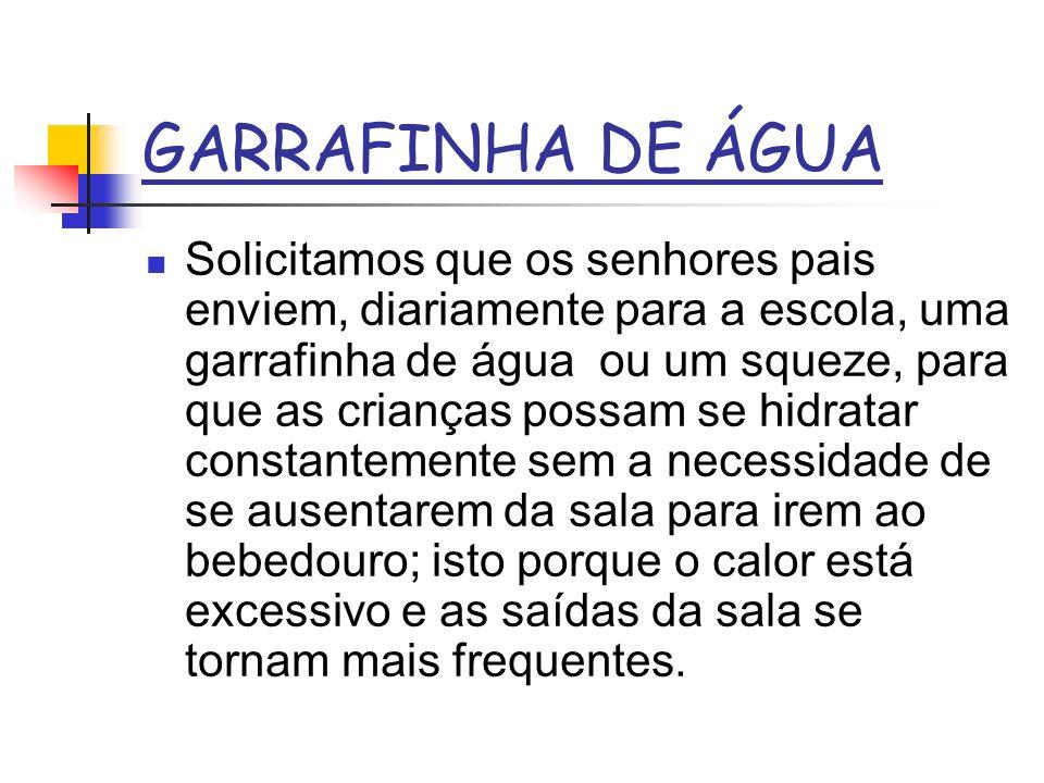GARRAFINHA DE ÁGUA