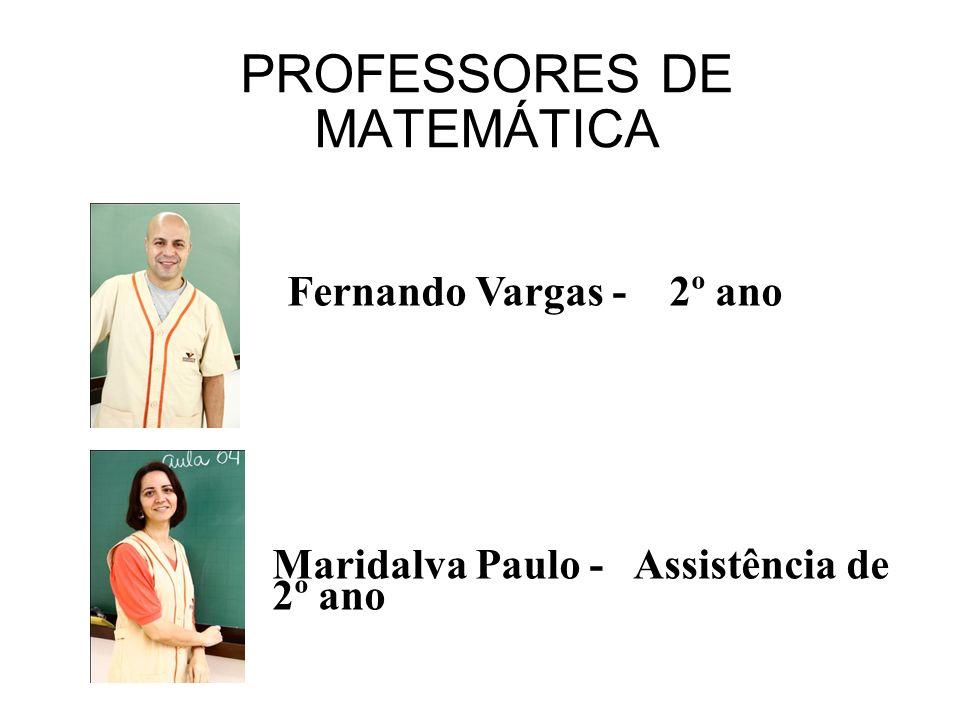 PROFESSORES DE MATEMÁTICA