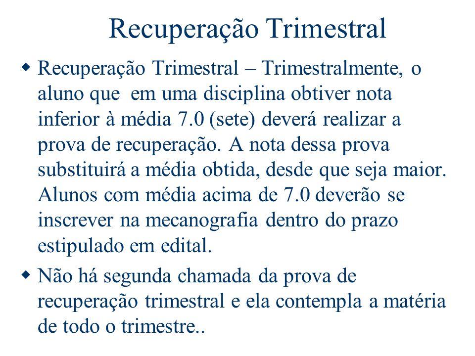 Recuperação Trimestral