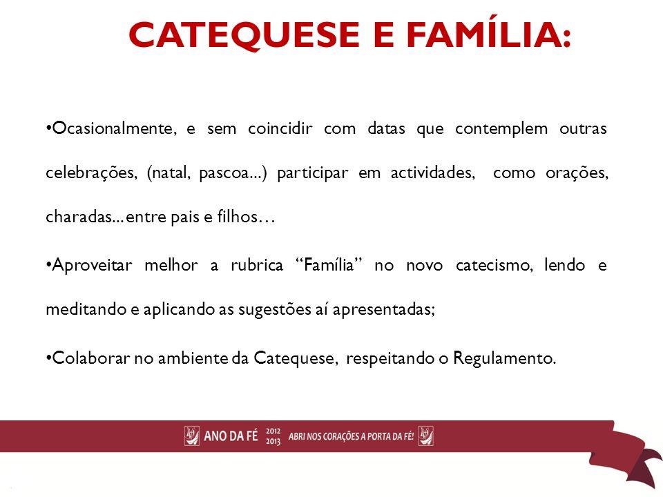 CATEQUESE E FAMÍLIA: