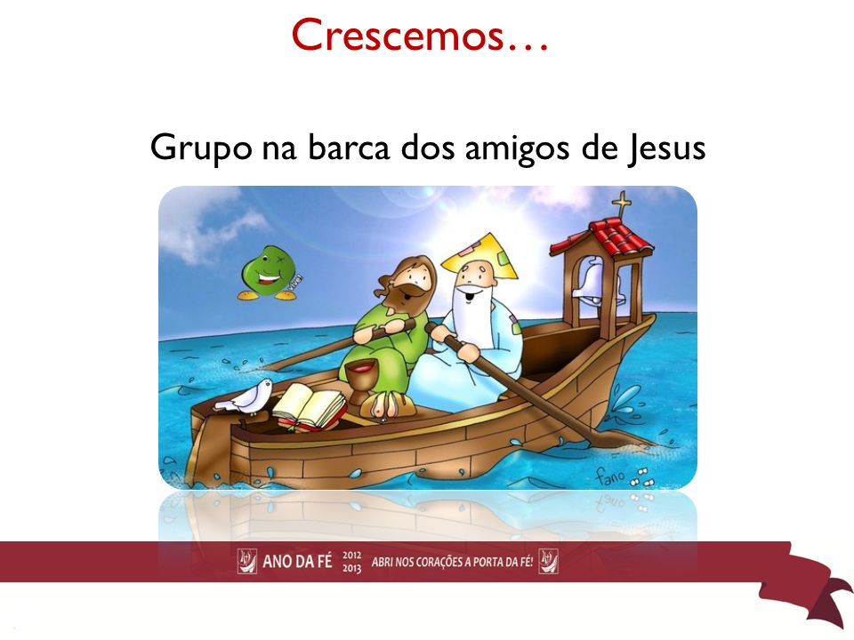 Grupo na barca dos amigos de Jesus