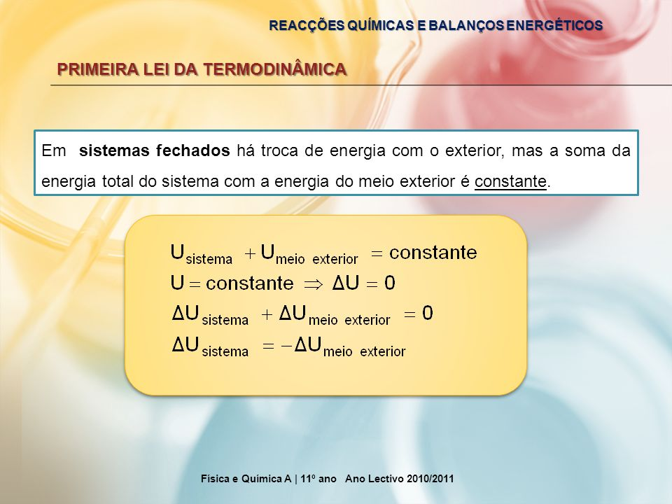 Física e Química A | 11º ano Ano Lectivo 2010/2011
