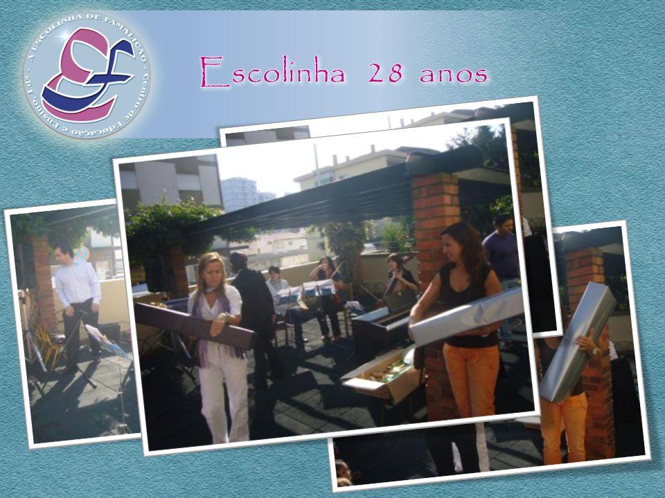 Escolinha 28 anos A Escola ArtEduca presenteou a Escolinha e os seus alunos com Instrumentos Musicais...