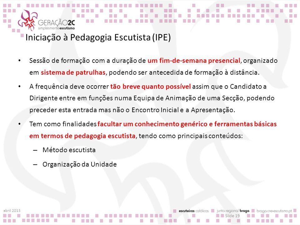 Iniciação à Pedagogia Escutista (IPE)