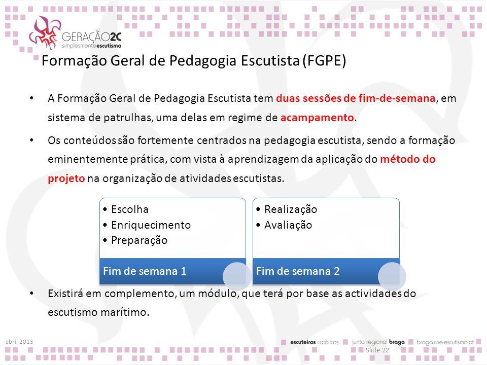 Formação Geral de Pedagogia Escutista (FGPE)