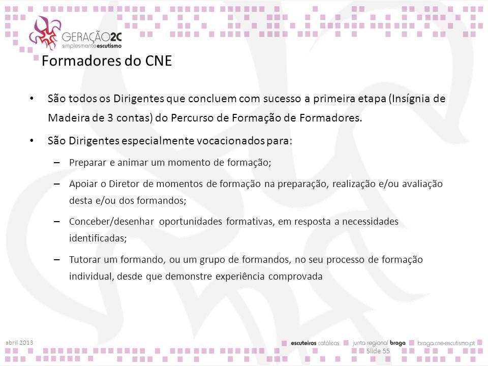 Formadores do CNE