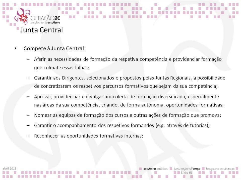 Junta Central Compete à Junta Central: