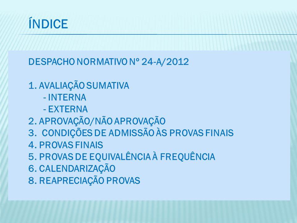 ÍNDICE Despacho normativo nº 24-A/2012 1