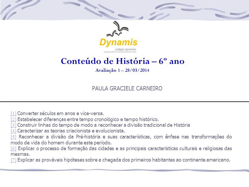 Conteúdo de História – 6º ano