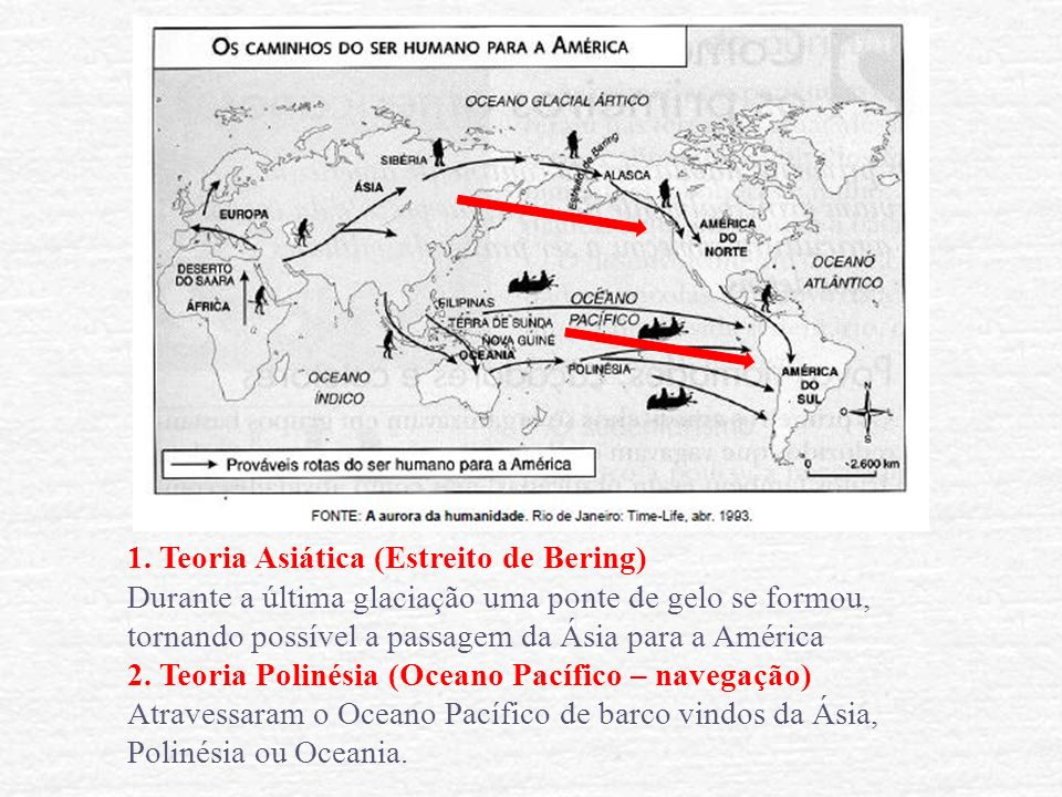 1. Teoria Asiática (Estreito de Bering)