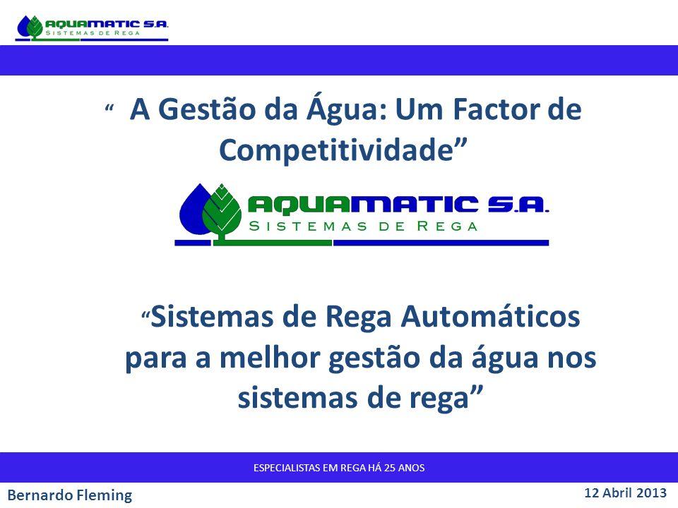 A Gestão da Água: Um Factor de Competitividade
