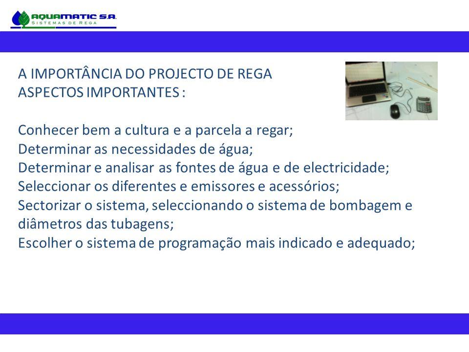 A IMPORTÂNCIA DO PROJECTO DE REGA