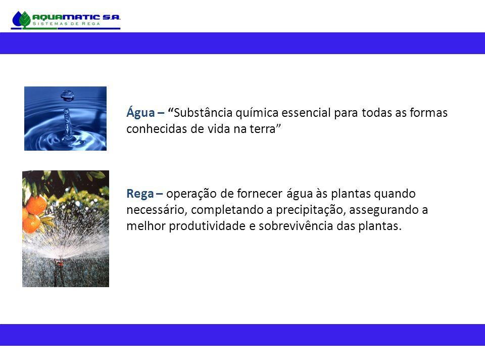Água – Substância química essencial para todas as formas conhecidas de vida na terra
