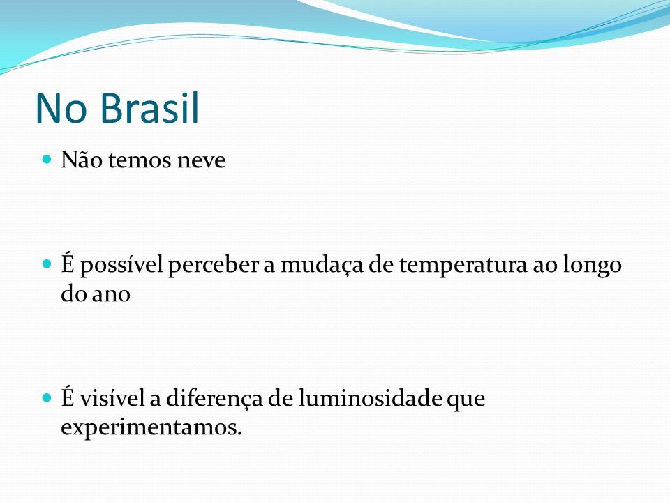 No Brasil Não temos neve