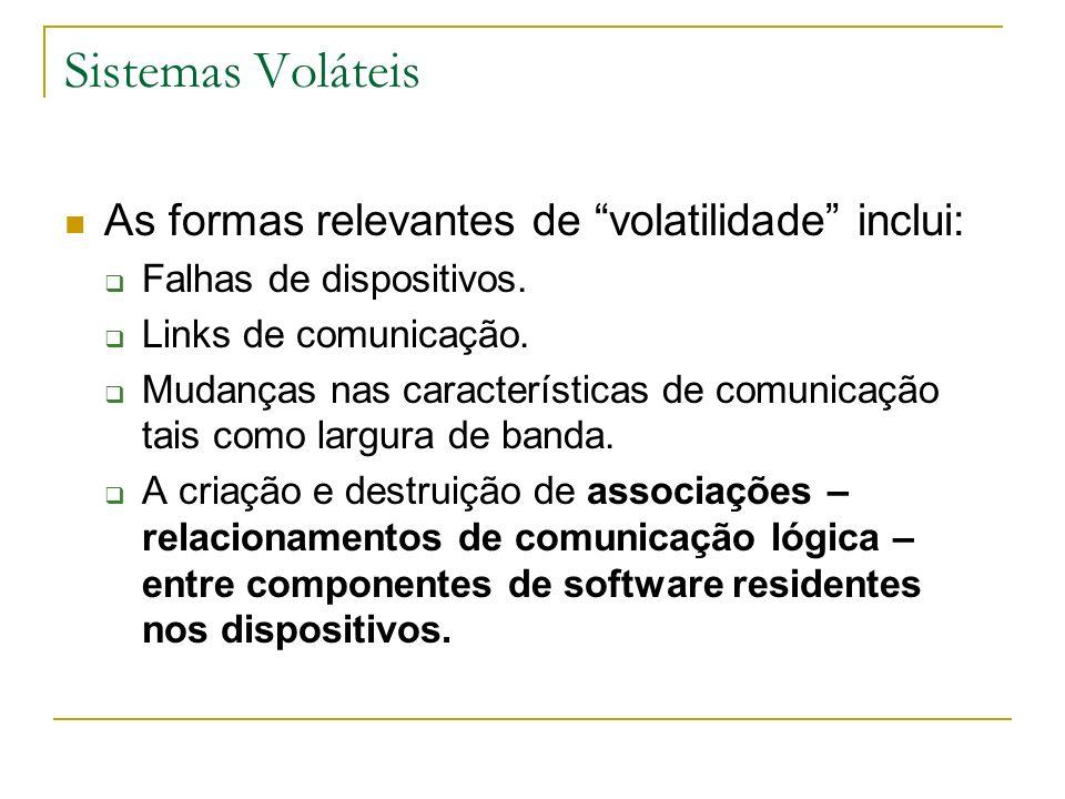 Sistemas Voláteis As formas relevantes de volatilidade inclui: