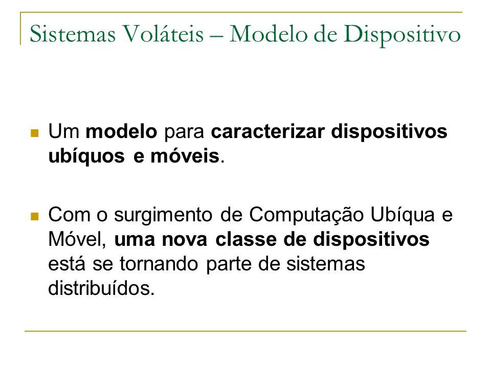 Sistemas Voláteis – Modelo de Dispositivo