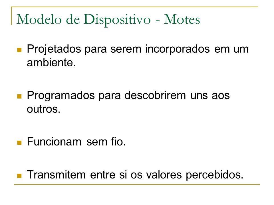 Modelo de Dispositivo - Motes