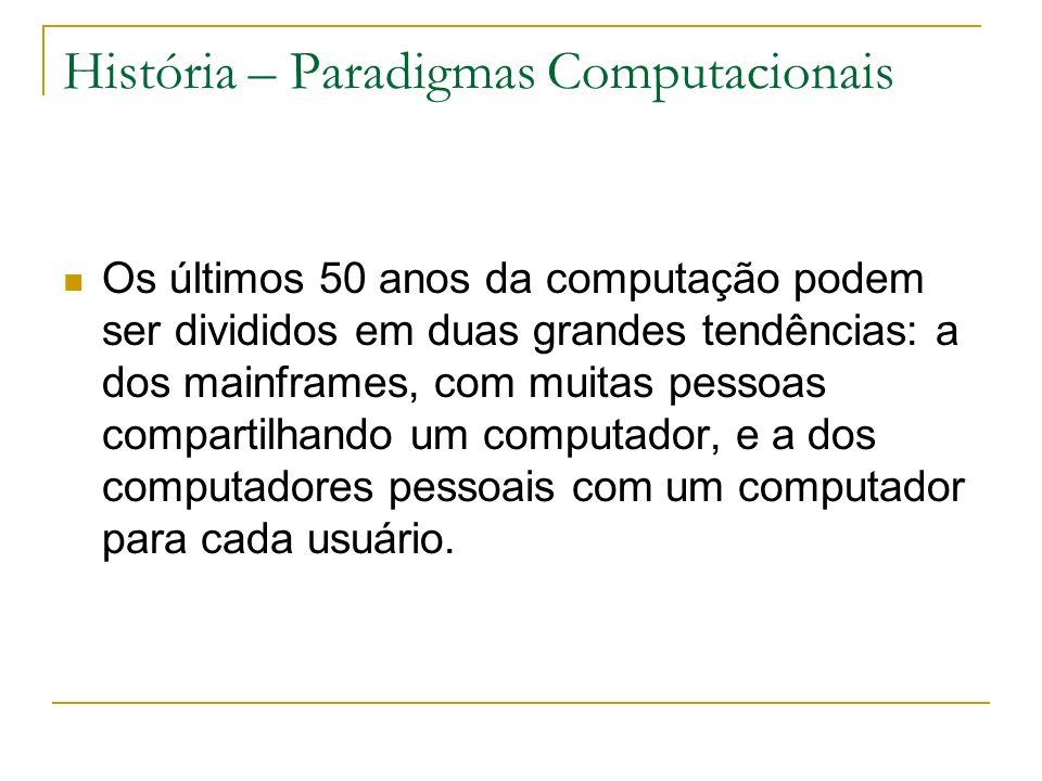 História – Paradigmas Computacionais