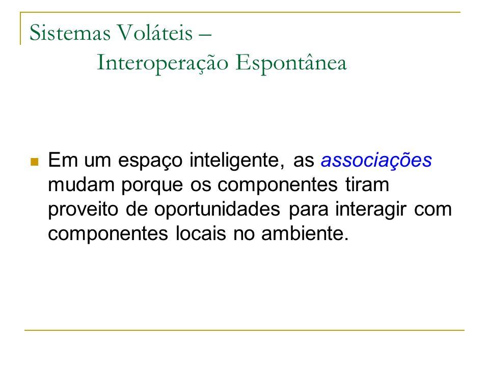Sistemas Voláteis – Interoperação Espontânea