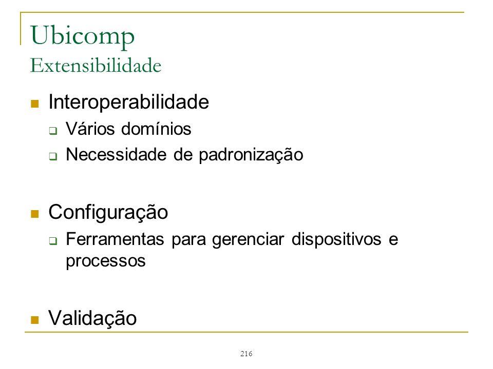 Ubicomp Extensibilidade