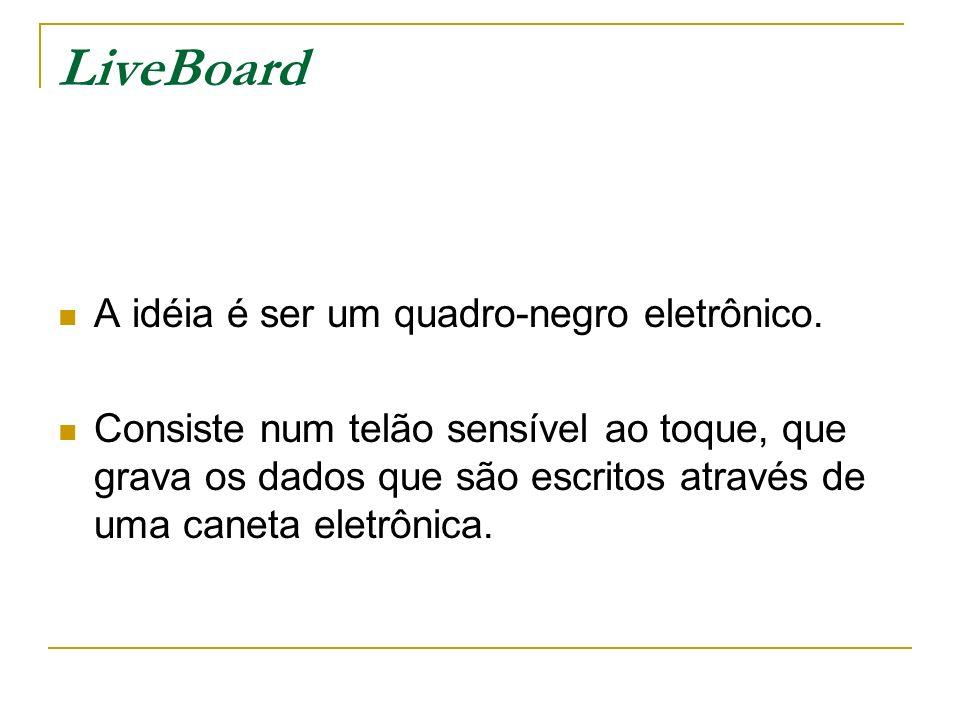 LiveBoard A idéia é ser um quadro-negro eletrônico.
