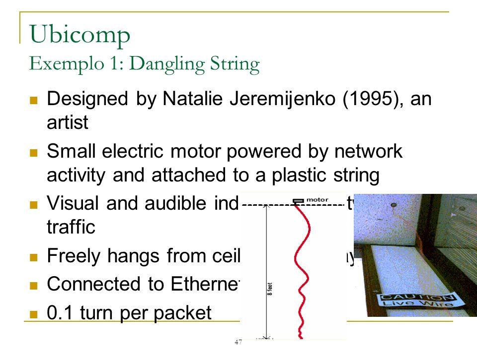 Ubicomp Exemplo 1: Dangling String