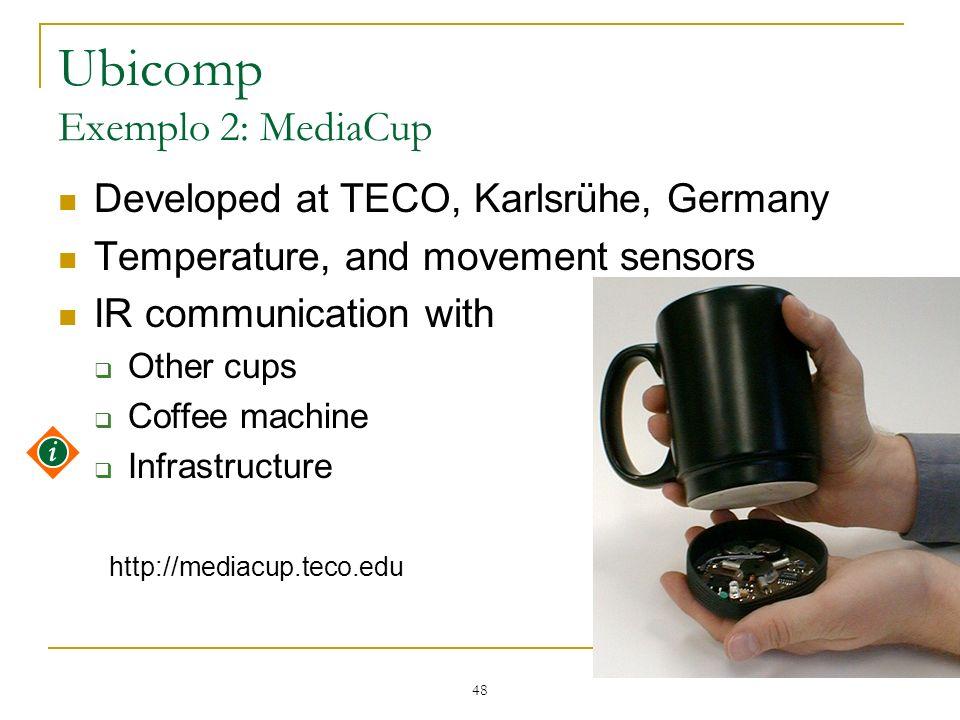 Ubicomp Exemplo 2: MediaCup