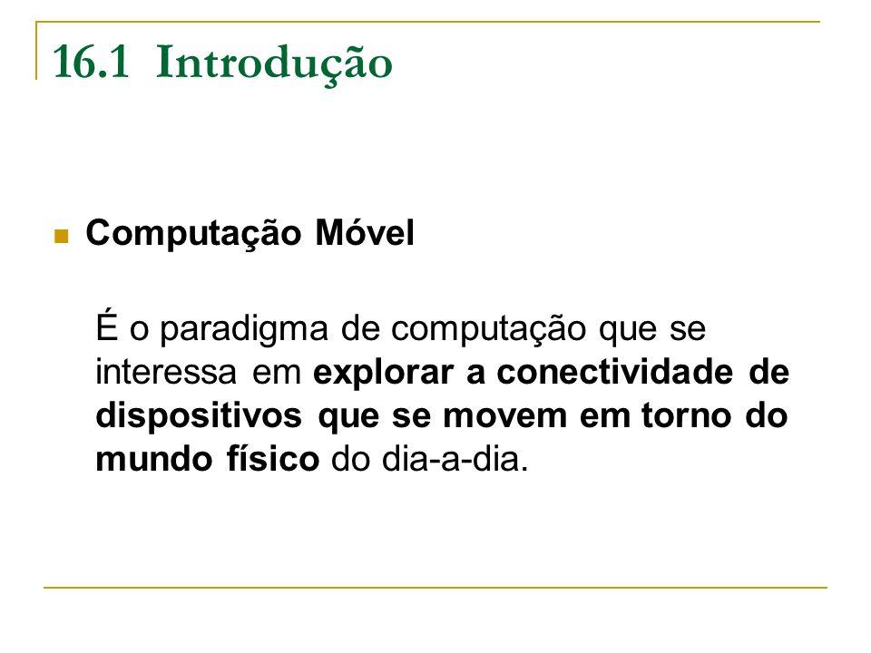 16.1 Introdução Computação Móvel