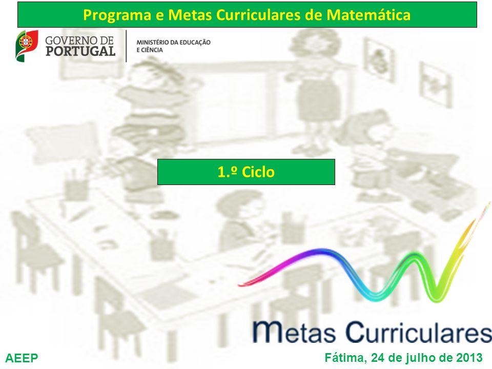 Programa e Metas Curriculares de Matemática