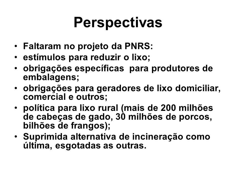 Perspectivas Faltaram no projeto da PNRS:
