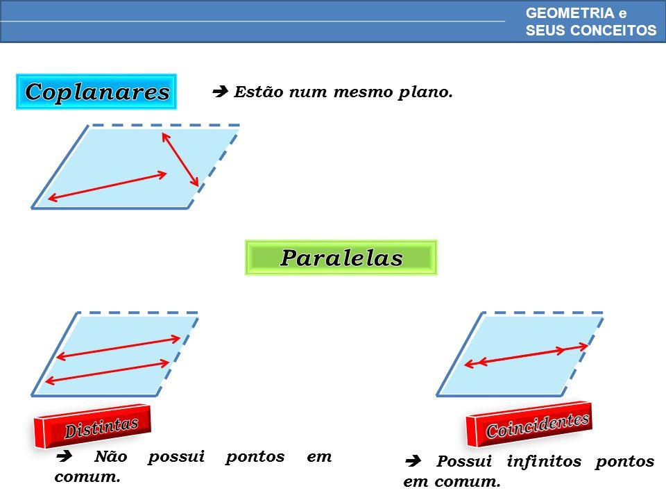 Coplanares Paralelas Distintas Coincidentes
