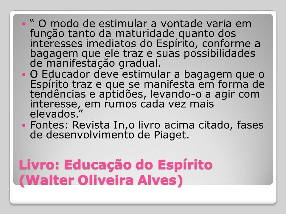 Livro: Educação do Espírito (Walter Oliveira Alves)