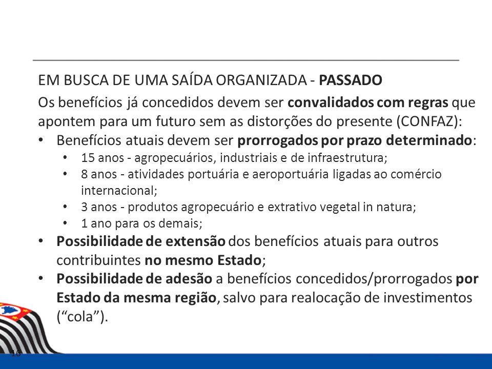 EM BUSCA DE UMA SAÍDA ORGANIZADA - PASSADO