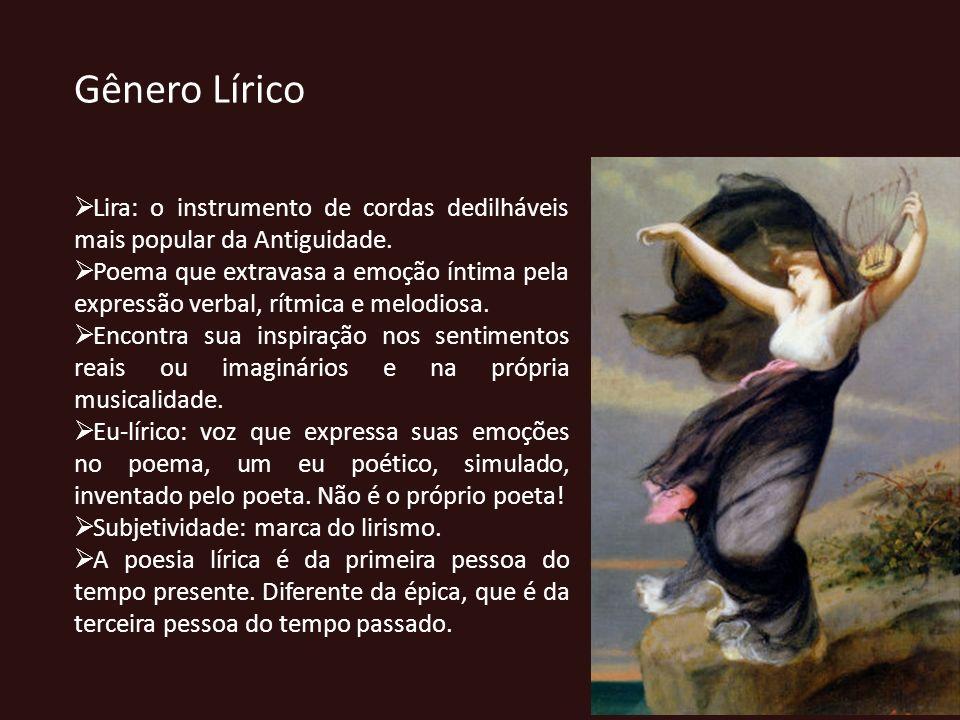 Gênero Lírico Lira: o instrumento de cordas dedilháveis mais popular da Antiguidade.